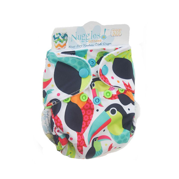 Nuggles! Bittees Stay Dry Newborn All-in-One Cloth Diaper