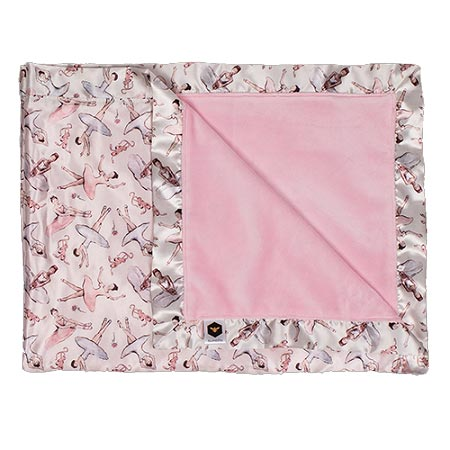 Bumblito Baby Bee Luxe Satin Blanket