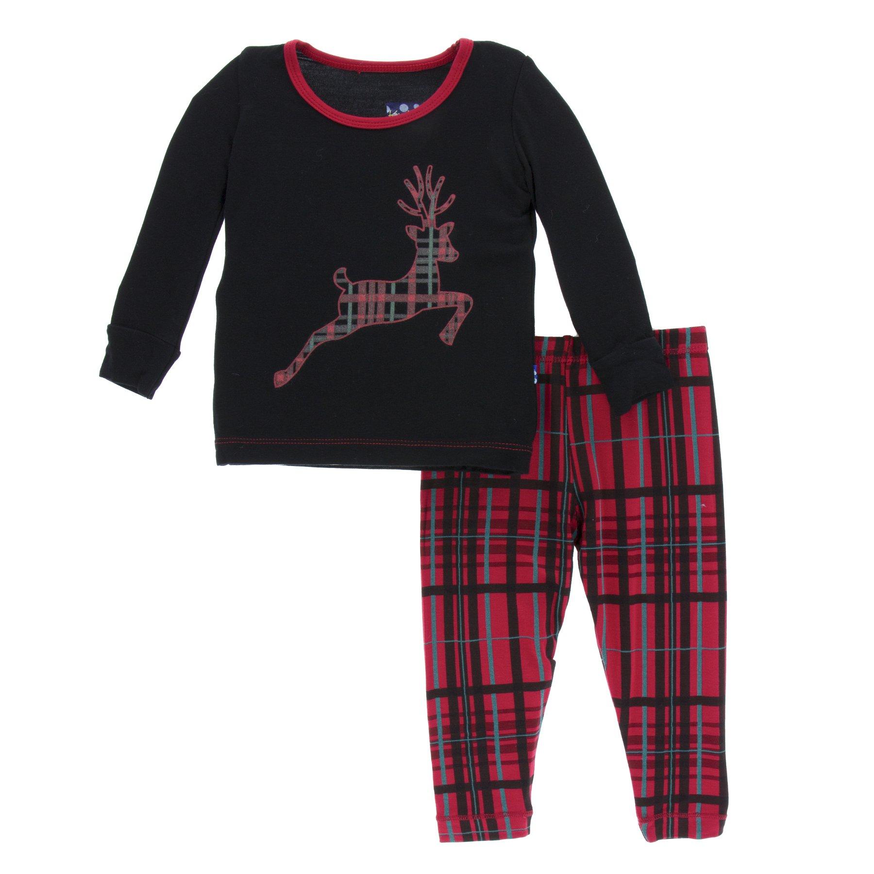 b4b843a71 KicKee Pants Long Sleeve Pajama Set - Bamboo Pajamas - KicKee ...