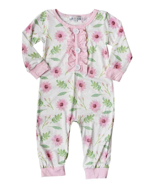 225320f2f5 Bailey s Blossoms Pink Daisy Jumpsuit Romper  CLEARANCE