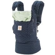 *Ergobaby ERGO Original Baby Carrier - Indigo Mint Dots