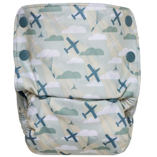 GroVia Reusable Zippered Wetbag for Baby Cloth Diapering and More One Size Fennec