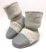 Nooks Design Felted Wool Booties - Embroidered