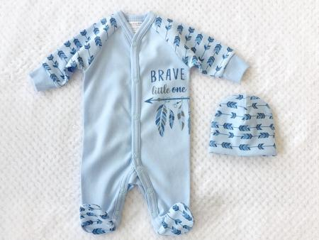 Itty Bitty Baby Brave Little One Sleeper Set - Blue (Micro Preemie) *CLEARANCE*