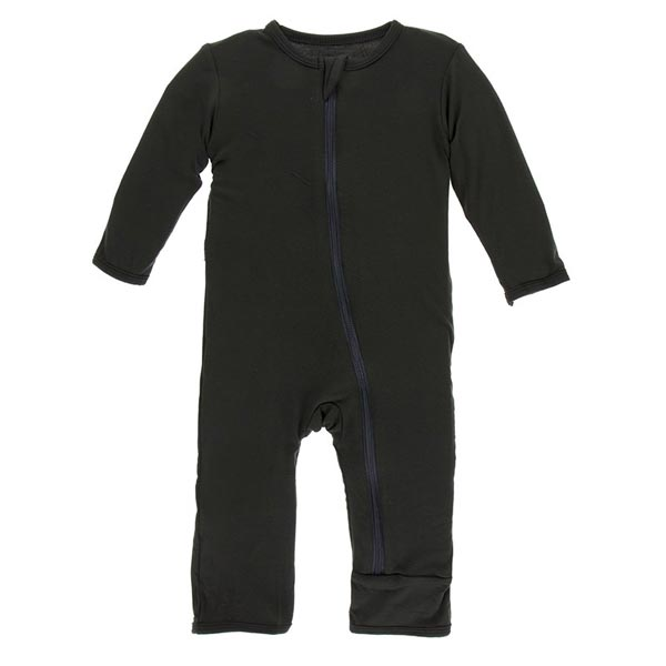KicKee Pants Fitted Coverall - Zebra  (ZIPPER)