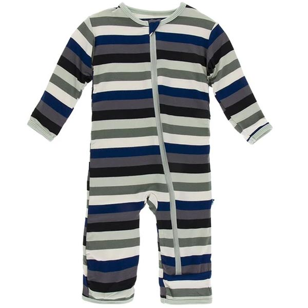 KicKee Pants Fitted Coverall - Zoology Stripe