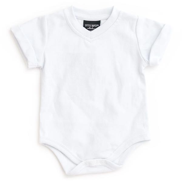 Little Bipsy Collection Basic Onesie - White