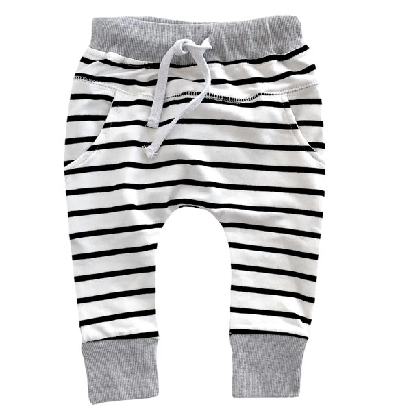 Little Bipsy Collection Joggers - Grey Stripe