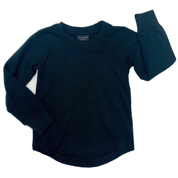 Little Bipsy Collection Long Sleeve Basic Tee - Black