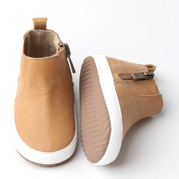 Little Bipsy Collection Zip Boots - Camel *CLEARANCE*