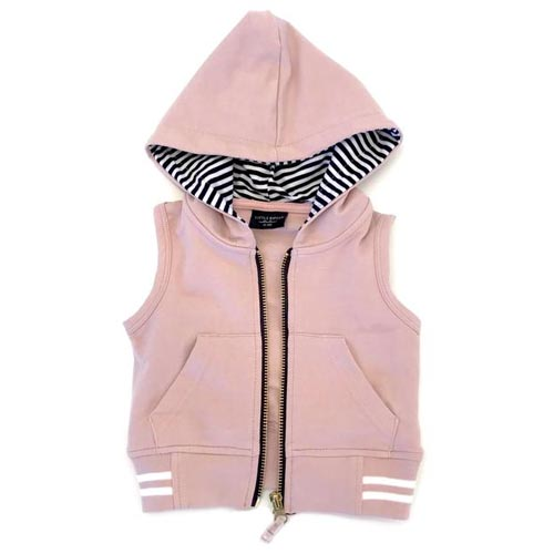 Little Bipsy Collection Zip Hooded Vest - Blush