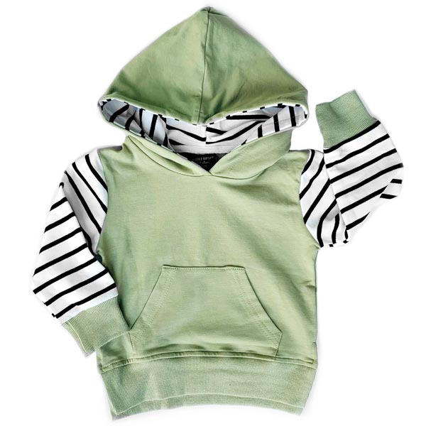 Little Bipsy Collection Stripe Hoodie - Olive