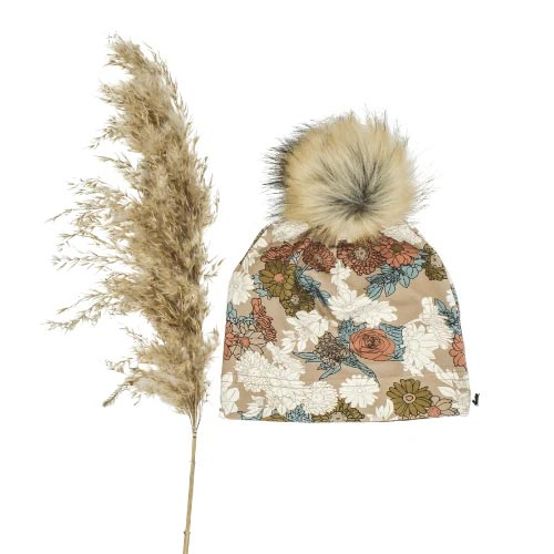 Little & Lively Pom Pom Beanie - Wildflower (Size 2-4 Years) *CLEARANCE*