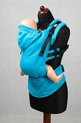 * LennyLamb Ergonomic Wrap Conversion Carrier - Baby - Turquoise Diamond *CLEARANCE*