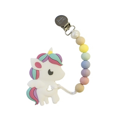 *Loulou Lollipop Rainbow Unicorn Teether with Holder