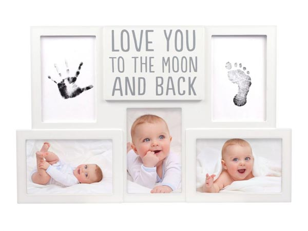 *Pearhead Babyprints Collage Photo Frame - Love You to the Moon and Back