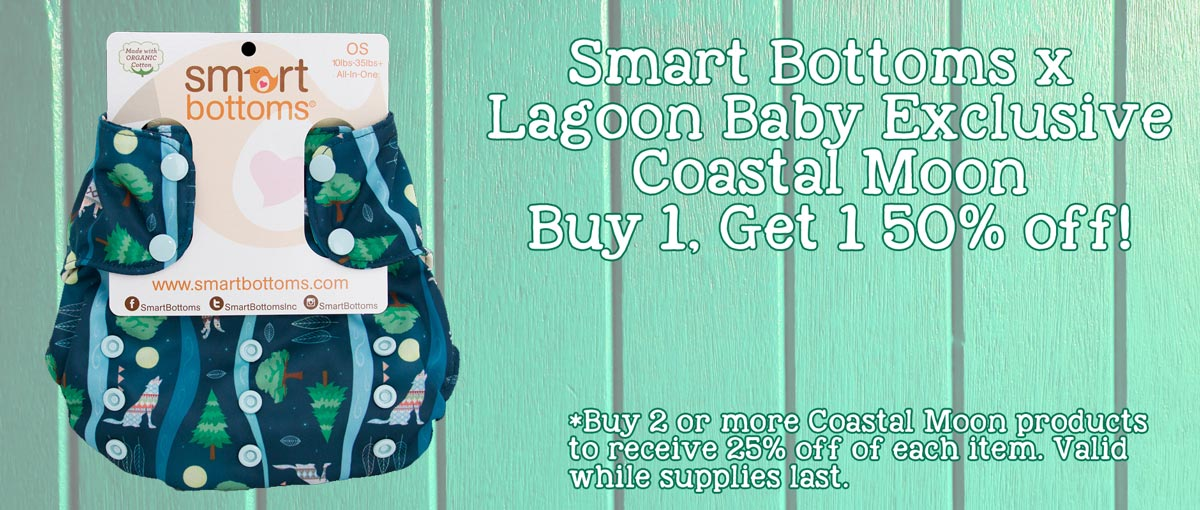 Smart Bottoms x Lagoon Baby Exclusive - Coastal Moon - Buy More and SAVE!