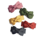 *Baby Wisp Headband 5 Pack Snap Clip  Tuxedo Bow - Little & Brave