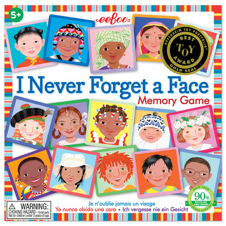 *eeBoo I Never Forget a Face Memory Game