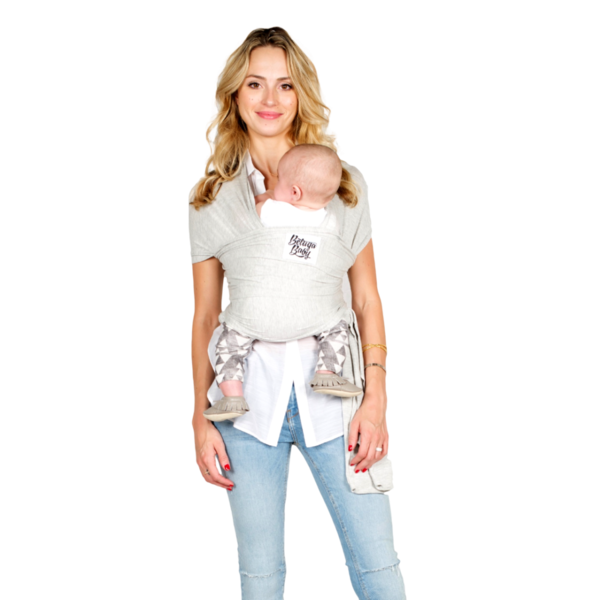 *Beluga Baby Wrap Light Grey Heather - The Rachel