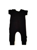 Urban Baby Apparel Pull On Bamboo Romper - Basic Black