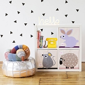 *3 Sprouts Canvas Storage Box