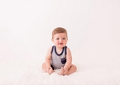 L'ovedbaby Organic Racerback Tank - Navy Heather *CLEARANCE*