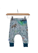Hau'oli Apparel Harem Slim Pants - Aurora Winter With Moroccan Blue