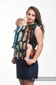 *LennyLamb LennyUp Carrier - Painted Feathers Rainbow Dark (100% Cotton) *CLEARANCE*
