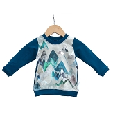 Hau'oli Apparel Pullover Sweater - Blue Mountain with Moroccan Blue