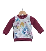 Hau'oli Apparel Pullover Sweater - Pastel Mountains With Merlot