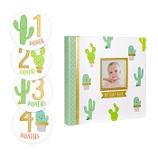 *Pearhead Cactus Baby's Memory Book and Sticker Set
