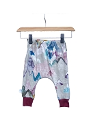 Hau'oli Apparel Harem Slim Pants - Pastel Mountain with Merlot