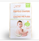 AMP Organic Cotton Indian Prefolds 6-Pack