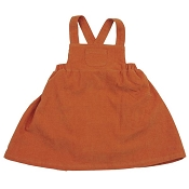 Angel Dear Fine Wale Corduroy Pinafore Dress Set - Rust