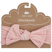 Angel Dear Headband - Hippo Pink Stripe