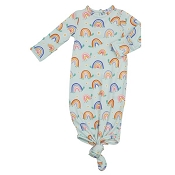 Angel Dear Knotted Gown - Rainbow Turtles (0-3 Months)