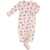 Angel Dear Knotted Gown - Roller Skates (0-3 Months)