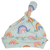 Angel Dear Knotted Hat - Rainbow Turtles (0-3 Months)