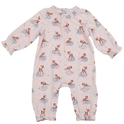 Angel Dear Ruffle Sleeve Romper - Woodland Deer