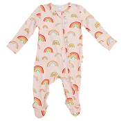 Angel Dear Ruffle Footie - Rainbow Pink