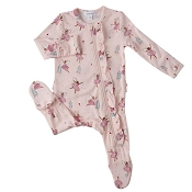 Angel Dear Ruffle Back Zipper Footie - Sugar Plum Fairies