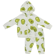 Angel Dear Velour Jogging Set - Avocado