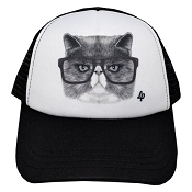L&P Trucker Style Hat - Angry Cat