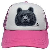L&P Trucker Style Hat - Pink Bear