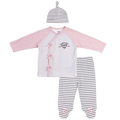 Asher & Olivia Heartbreaker 3 Piece Baby Outfit