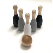 *AW + Co Monochrome Wood Bowling Set