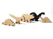 *AW & Co Wooden Dinosaur Figure