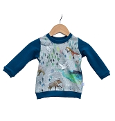 Hau'oli Apparel Pullover Sweater - Aurora Winter With Moroccan Blue *CLEARANCE*