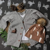 Little & Lively Cardigan - Grey *CLEARANCE*